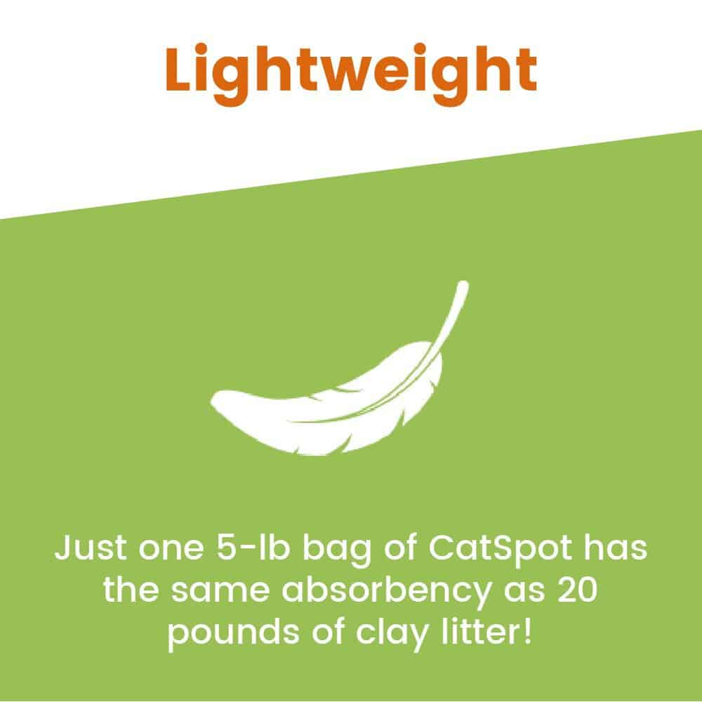 cat spot litter lightweight