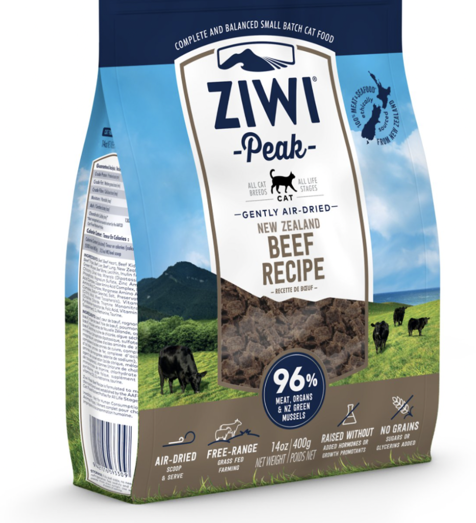 ZIWIPeak Air-Dried Cat Food – All Natural, High Protein