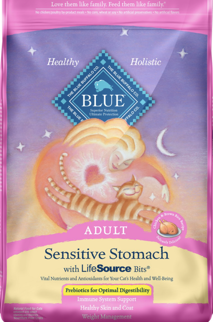 Blue Buffalo Sensitive Stomach Natural Adult Dry Cat Food